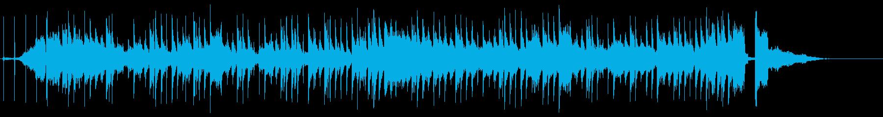 可愛く軽快なフューチャーベースのジングルの再生済みの波形