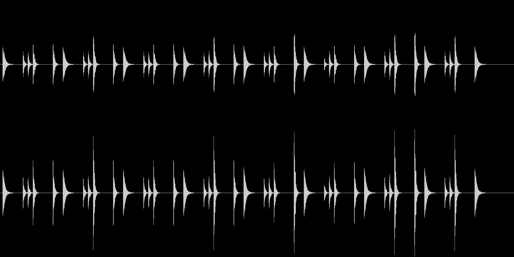 軽快で楽しいお囃子祭りの当り鉦のループ音の未再生の波形