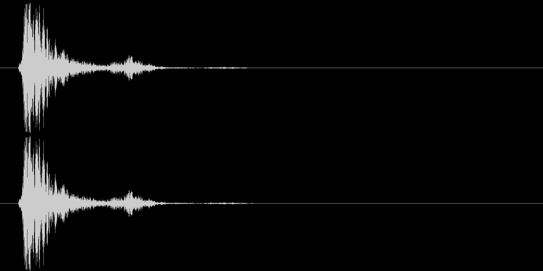 ガシャンの未再生の波形