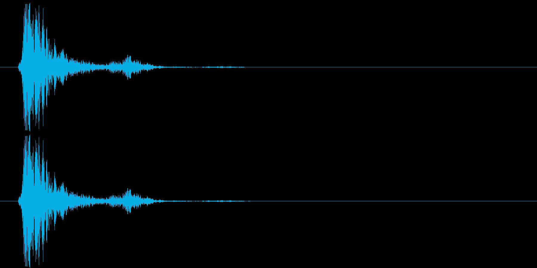 ガシャンの再生済みの波形
