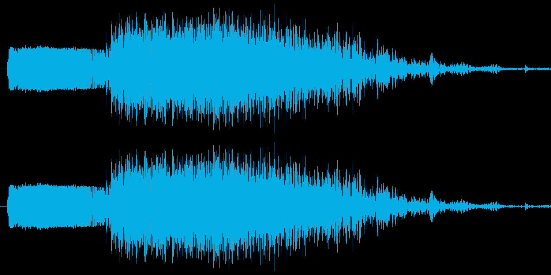 斬撃2【叩き割る様な剣の斬撃】の再生済みの波形