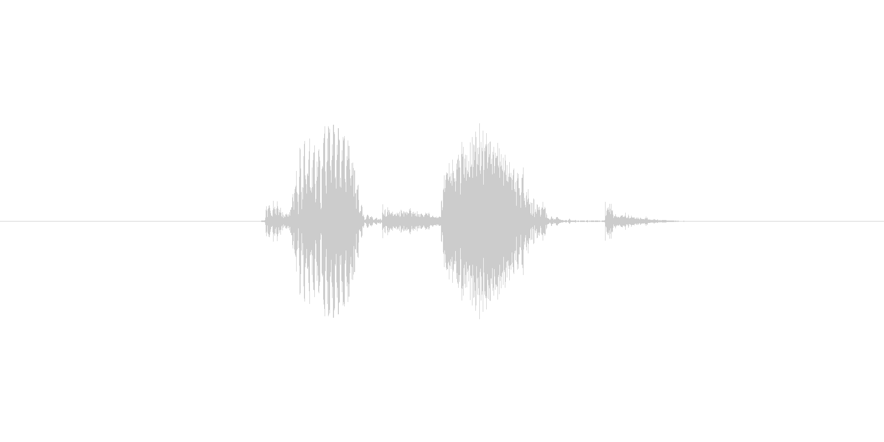 complete (発音:コンプリート…の未再生の波形