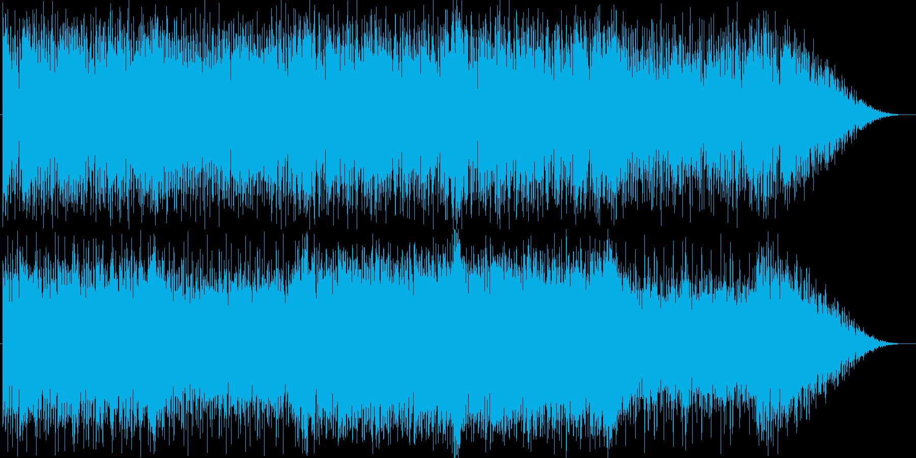 バトル、アクション向けのオケ風音源の再生済みの波形