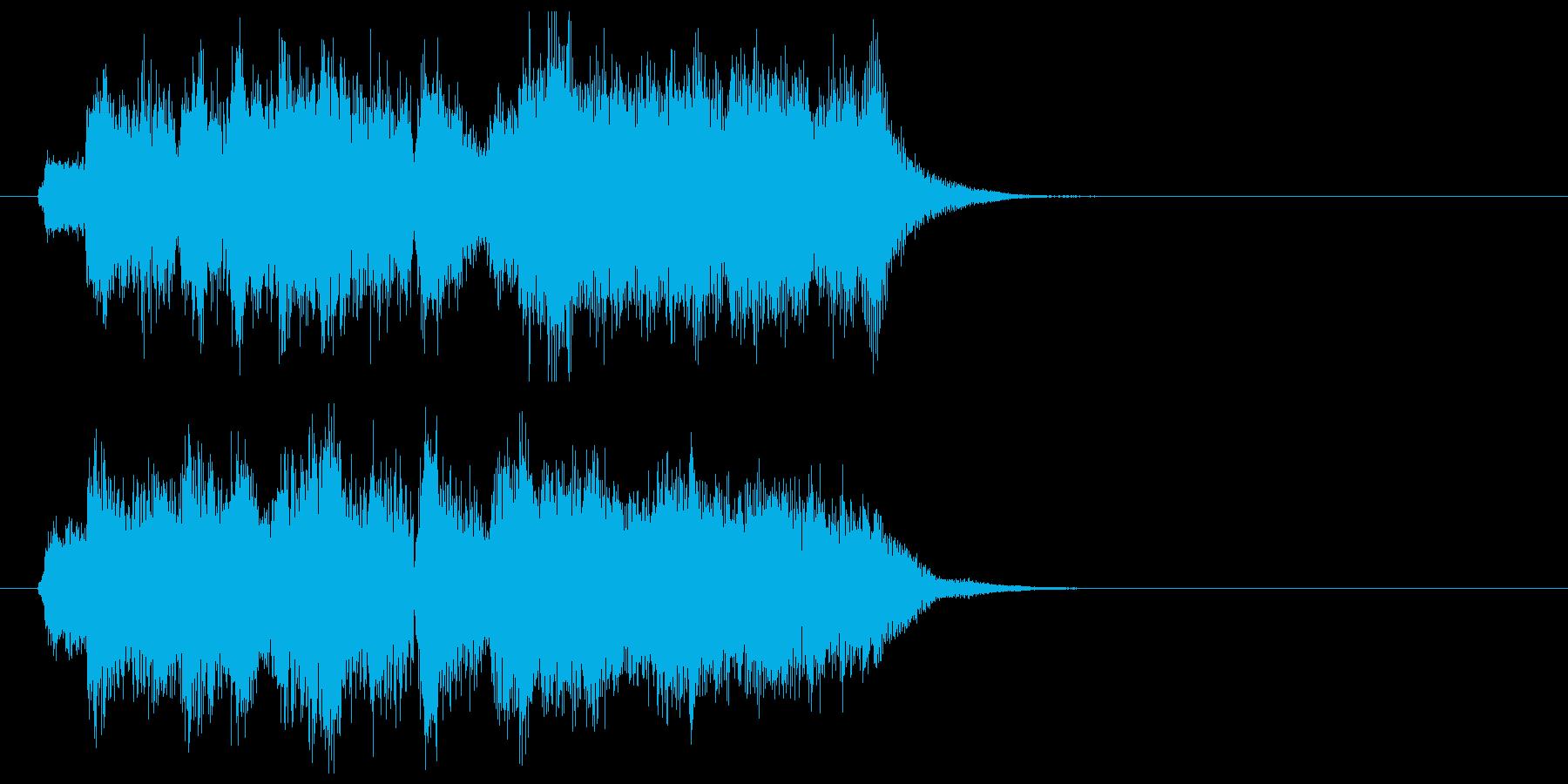 トランペットのファンファーレの再生済みの波形
