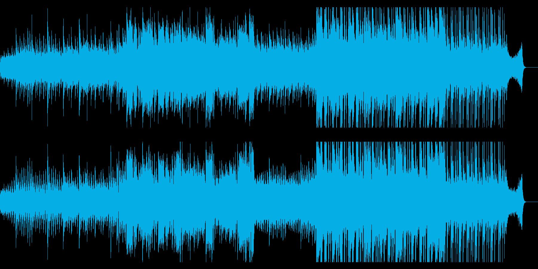 ピアノと尺八の美しい切ない和風曲の再生済みの波形