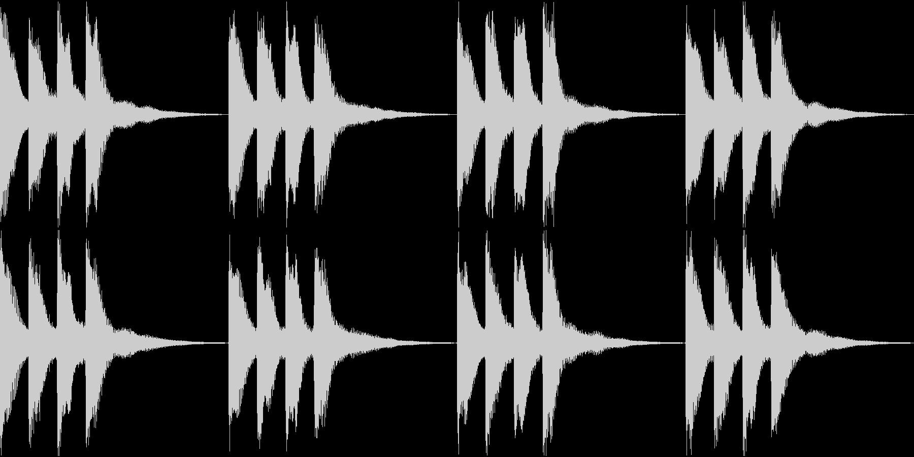 シンプル ベル 着信音 チャイム B-8の未再生の波形
