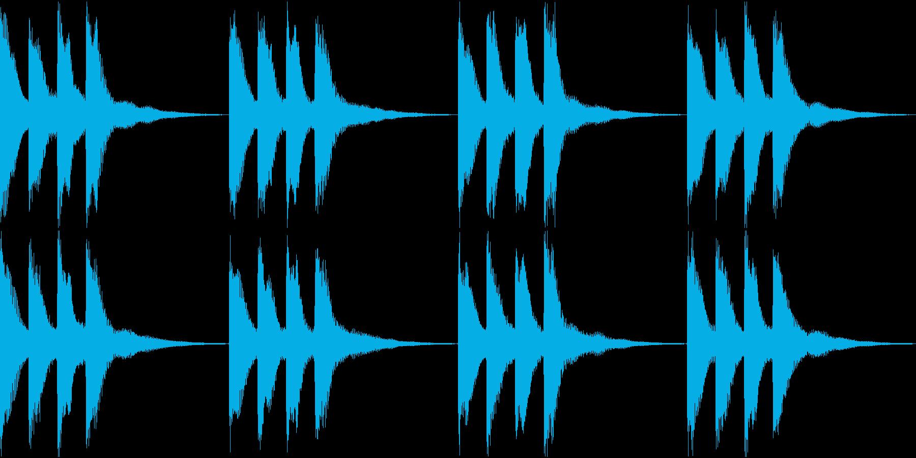 シンプル ベル 着信音 チャイム B-8の再生済みの波形
