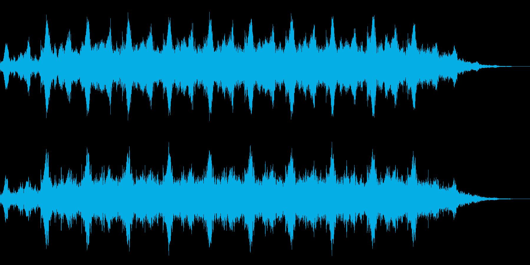 神秘的な雰囲気のアンビエント(背景音)4の再生済みの波形