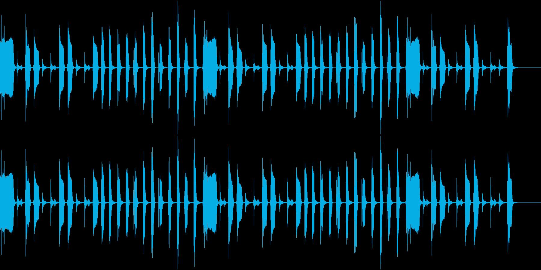 おっちょこちょいな動物が登場するときの曲の再生済みの波形