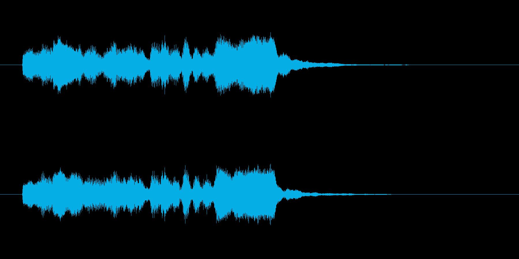 ほのぼのした管楽器の効果音の再生済みの波形