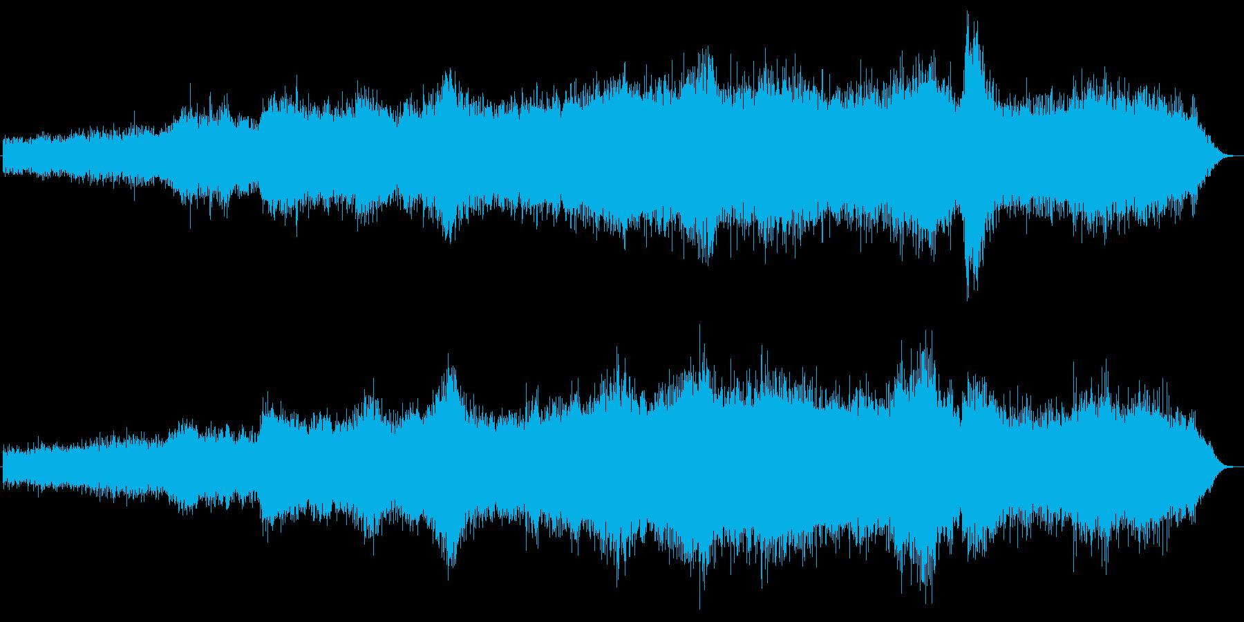 雪山での吹雪の効果音の再生済みの波形