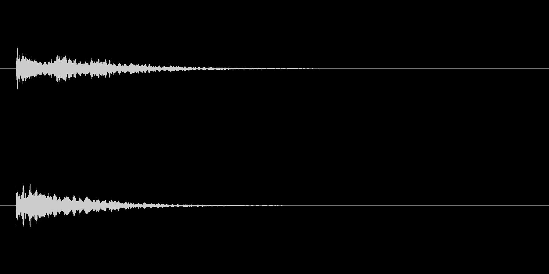 光や星のキラーン(キラン)スイートベル音の未再生の波形
