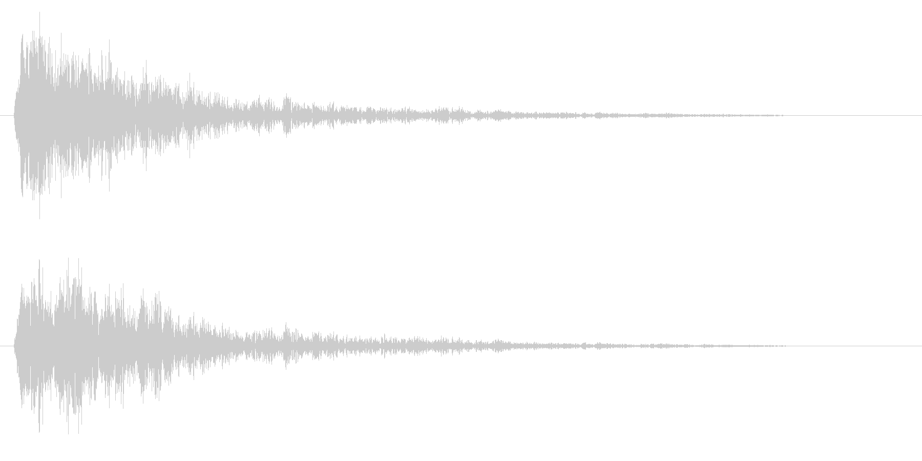 チュイーン(金属的で、重なっている音)の未再生の波形