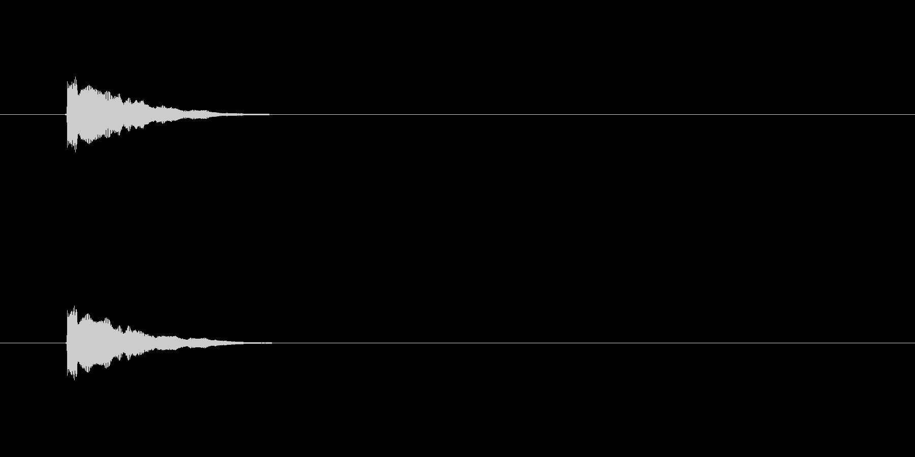 【アクセント28-3】の未再生の波形