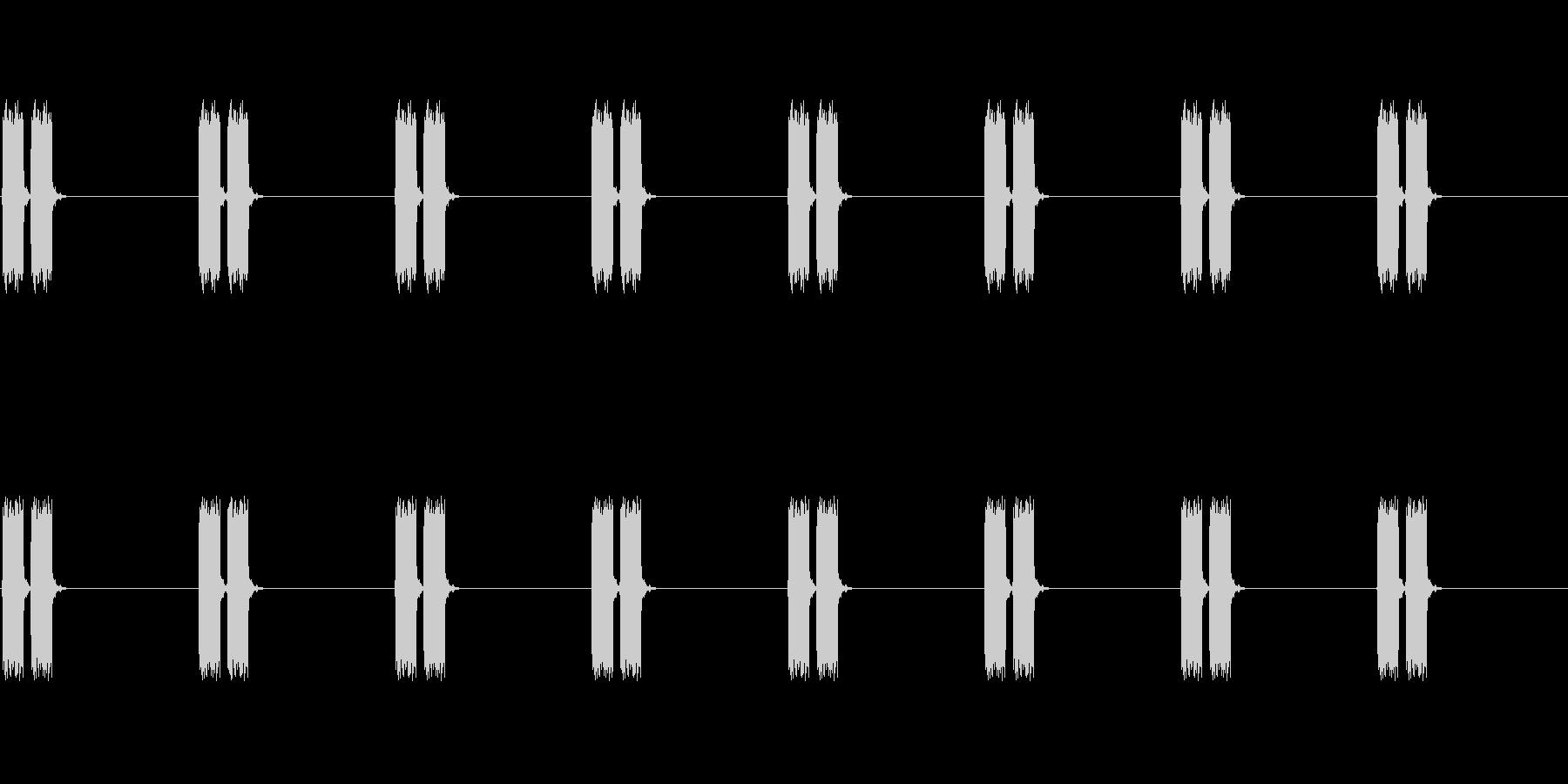 【電子音】心電図 ピピッピピッ(危険)の未再生の波形
