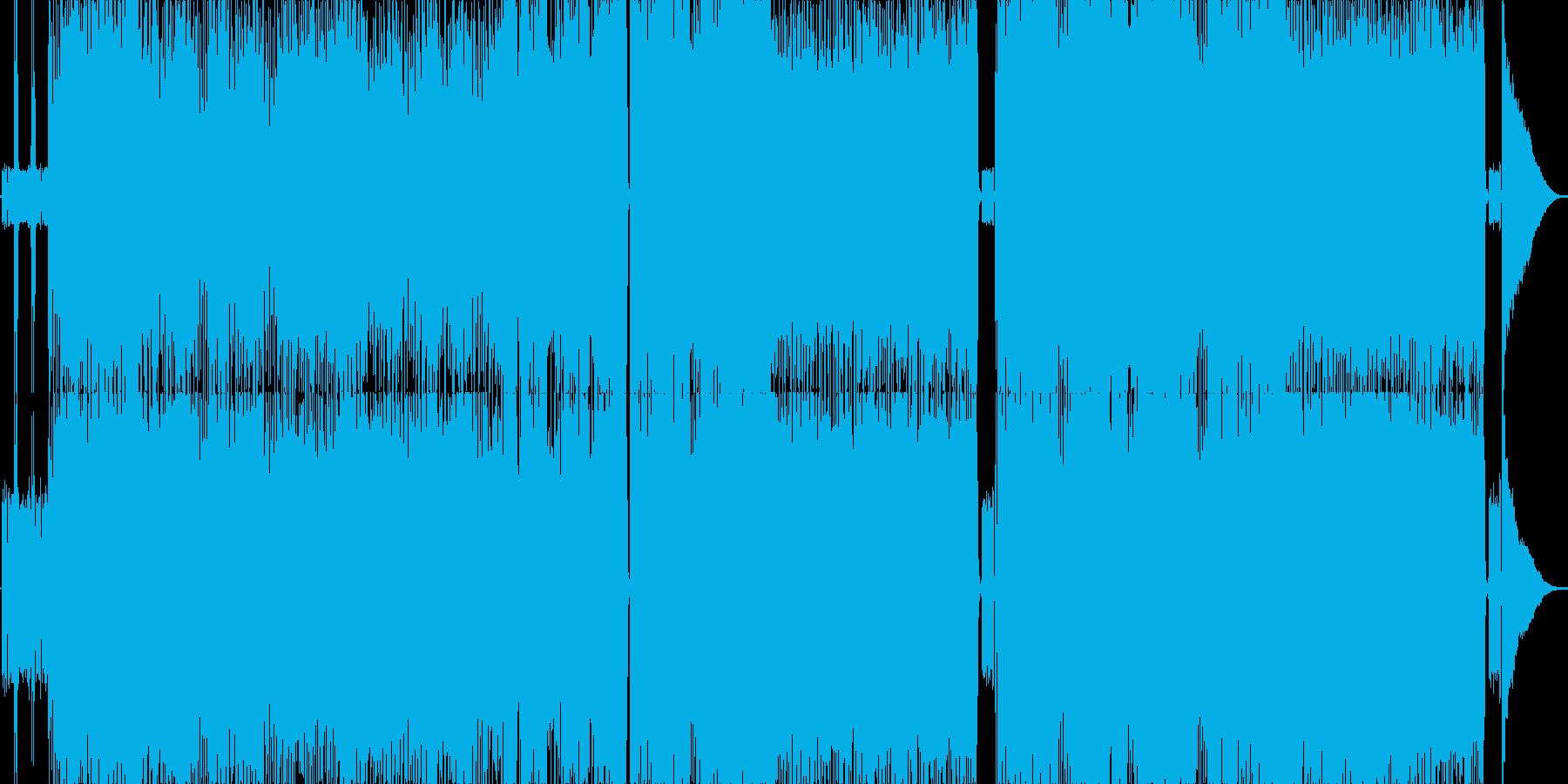 跳ね系のギターロックの再生済みの波形