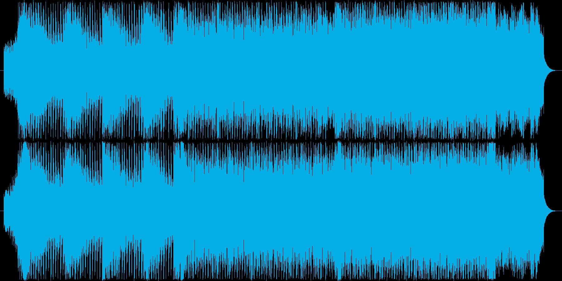 近未来感のあるダンサブルなテクノサウンドの再生済みの波形