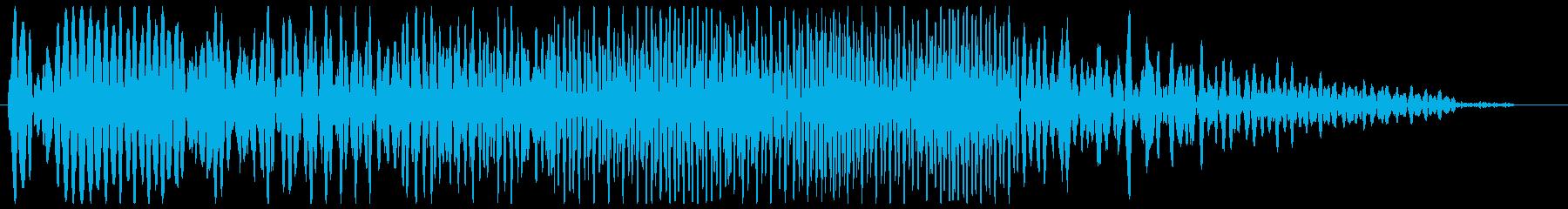 ウィーン (重厚感のある機械音)の再生済みの波形