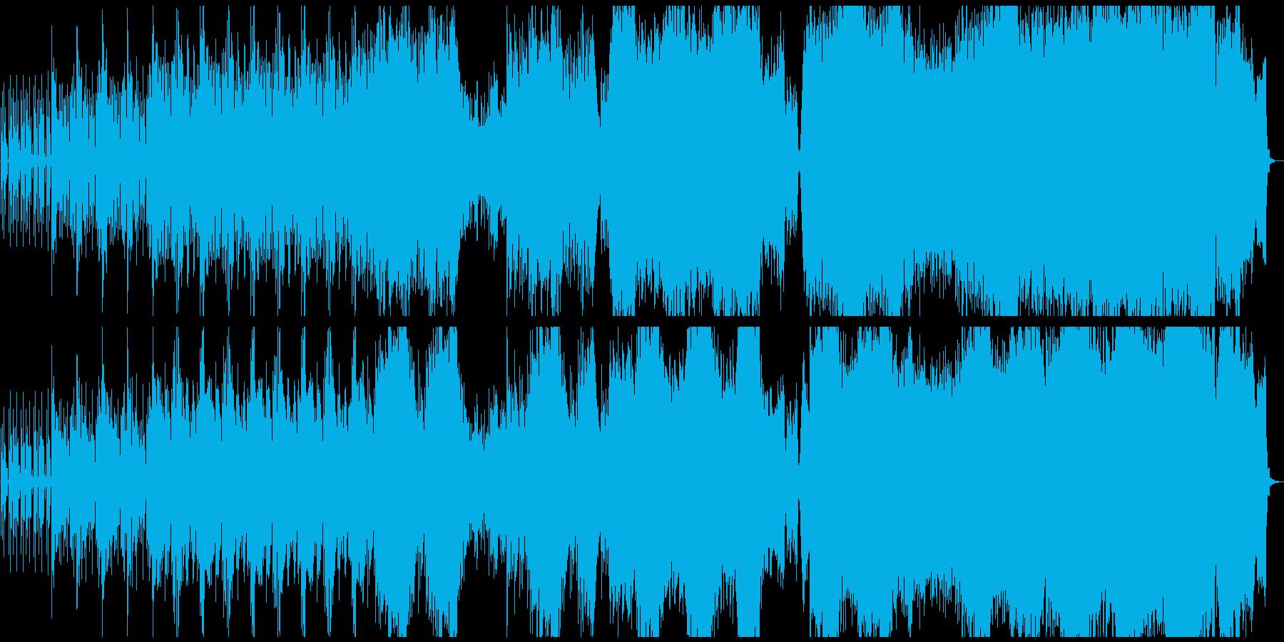 夜の雰囲気のエレクトロニカの再生済みの波形