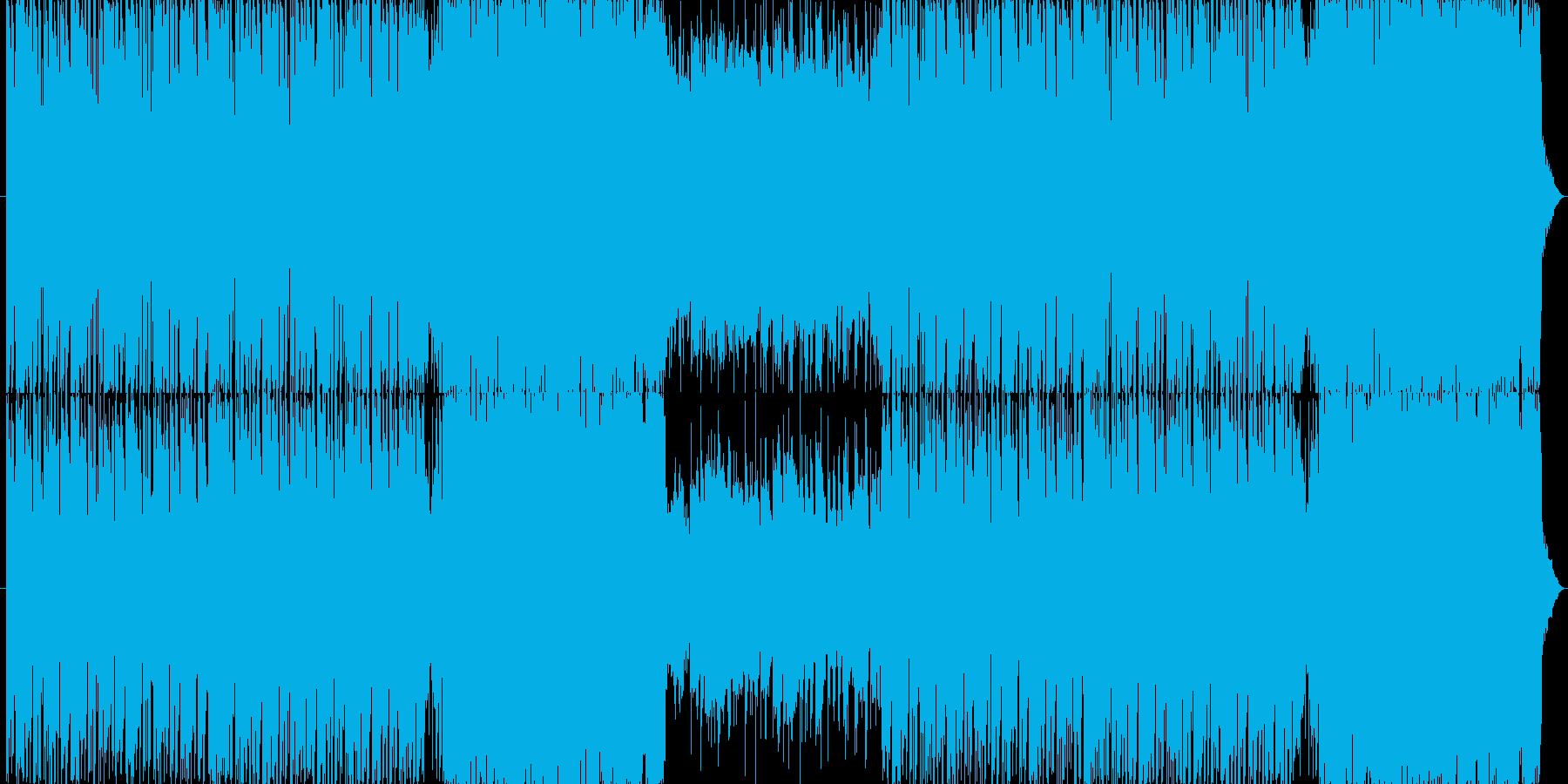 臨場感のあるサイバーロックの再生済みの波形