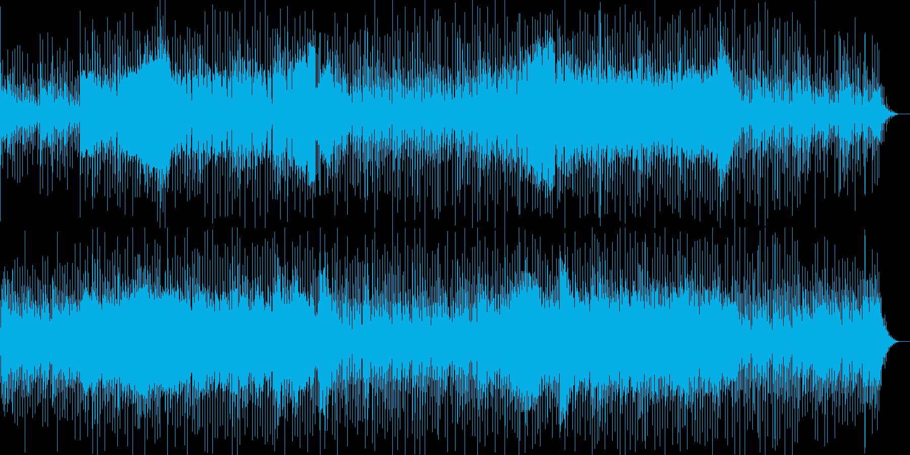 緊迫した雰囲気と疾走感のカッコイイBGMの再生済みの波形