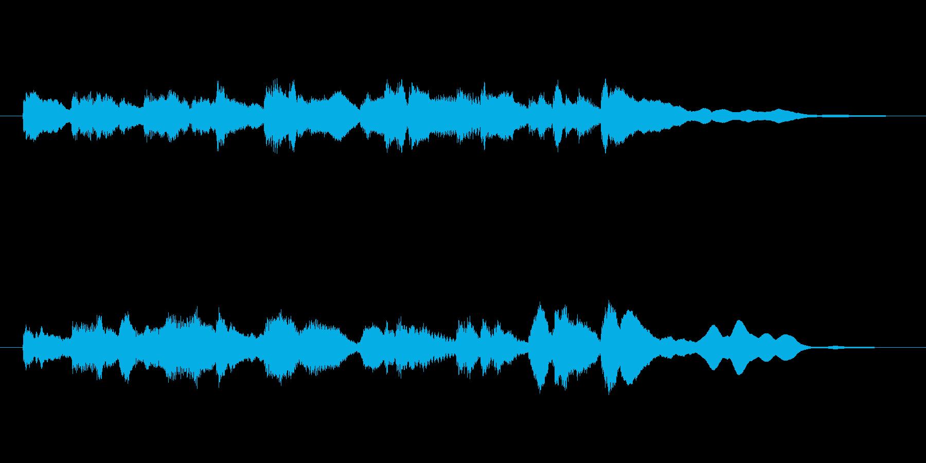 鉄道の到着メロディ(エレピ音)の再生済みの波形