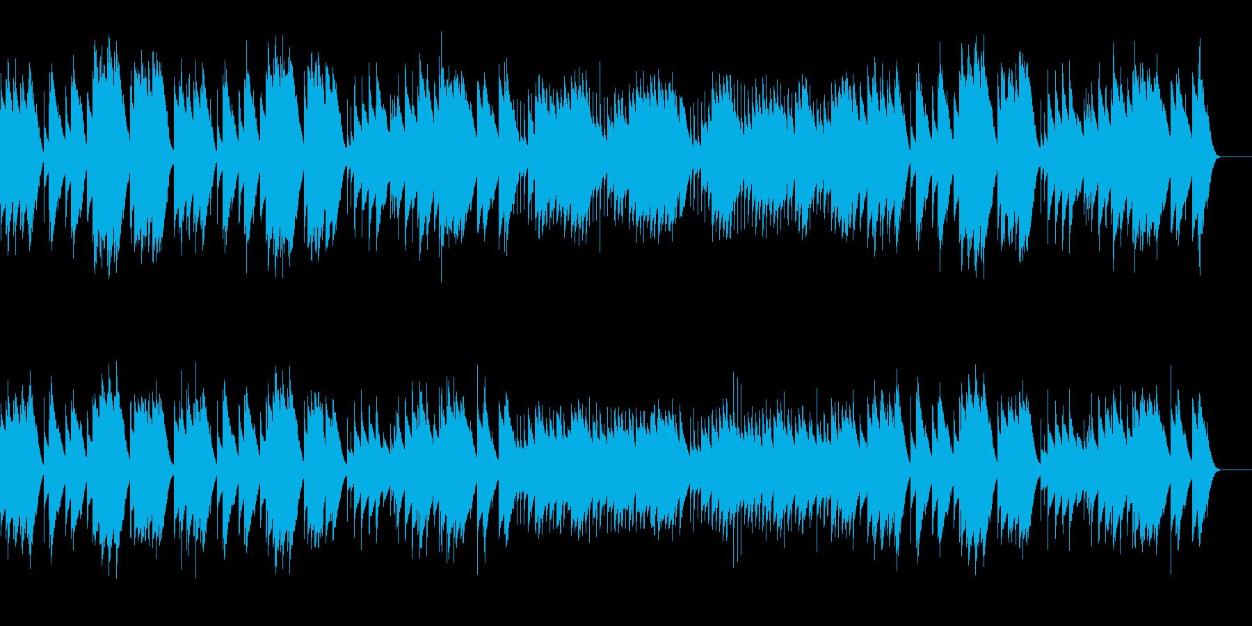ト調のメヌエット (オルゴール)の再生済みの波形