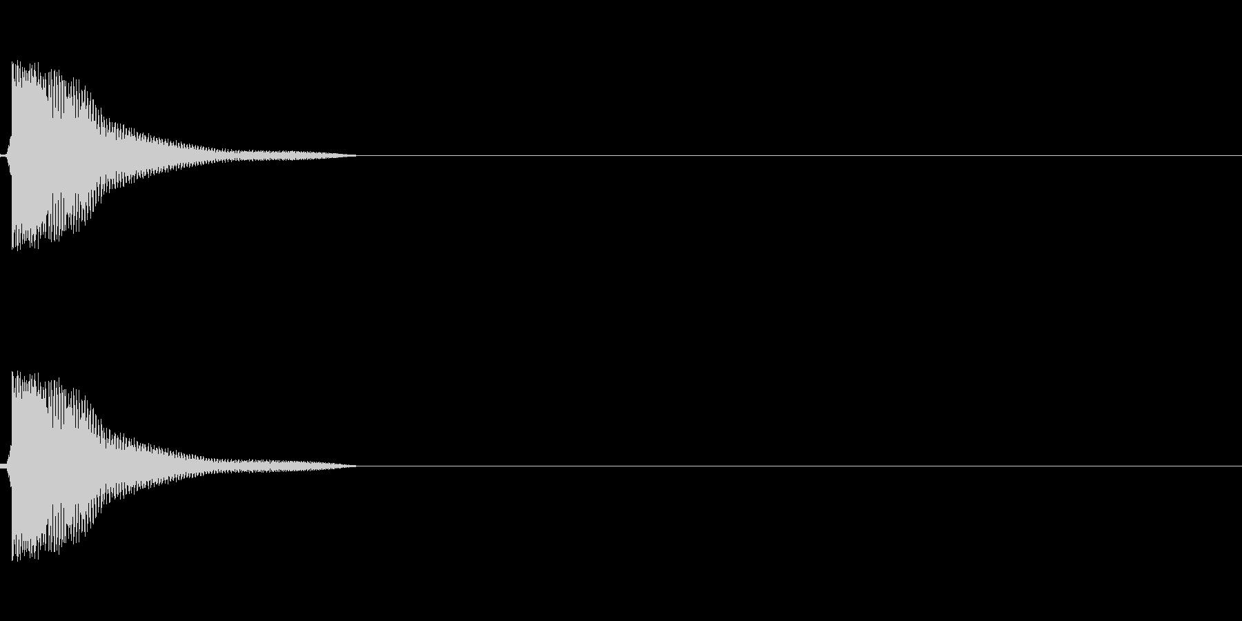 剣による防御音(弾くような)の未再生の波形