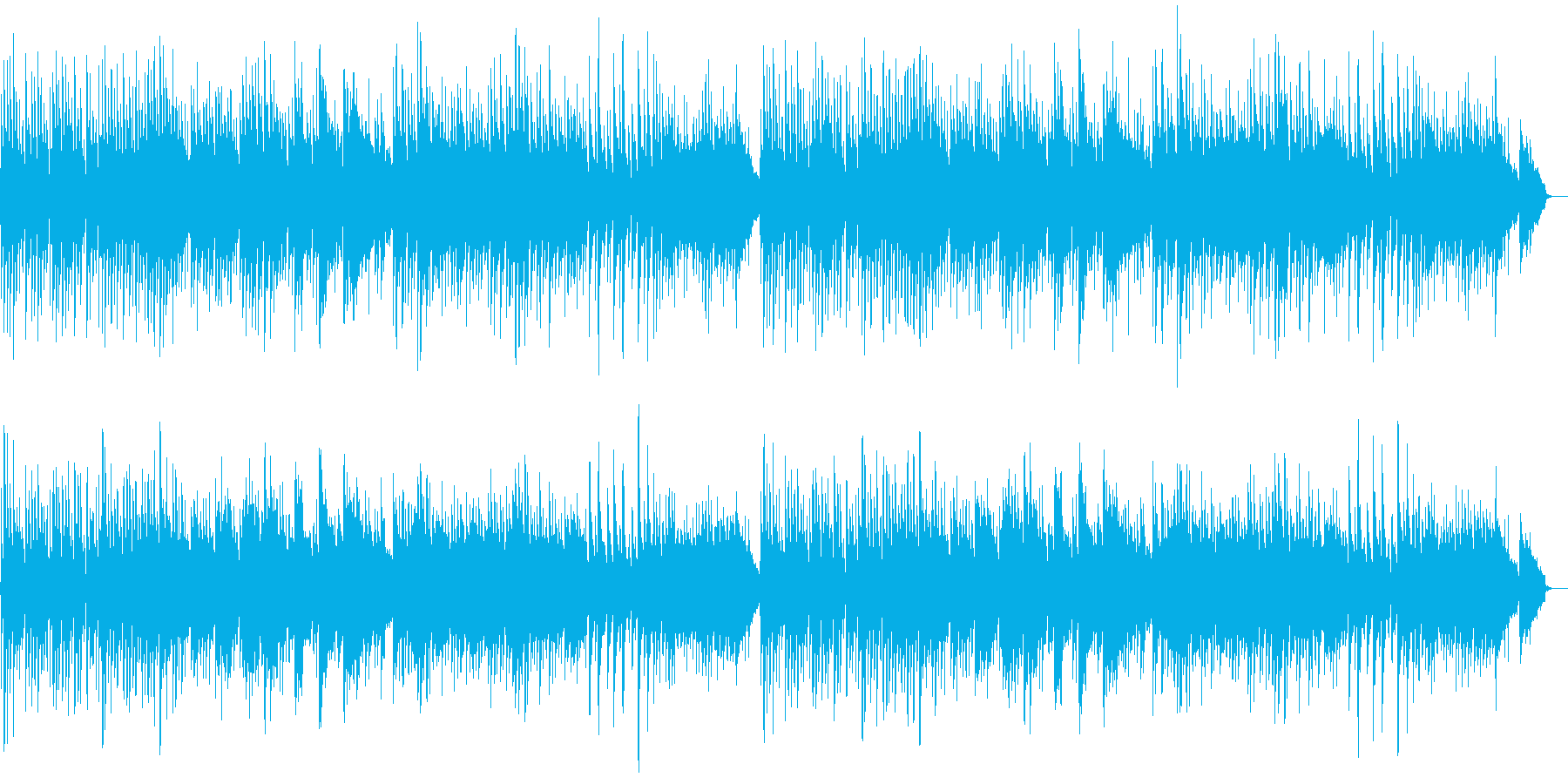 ゆったりしたピアノバラードの再生済みの波形