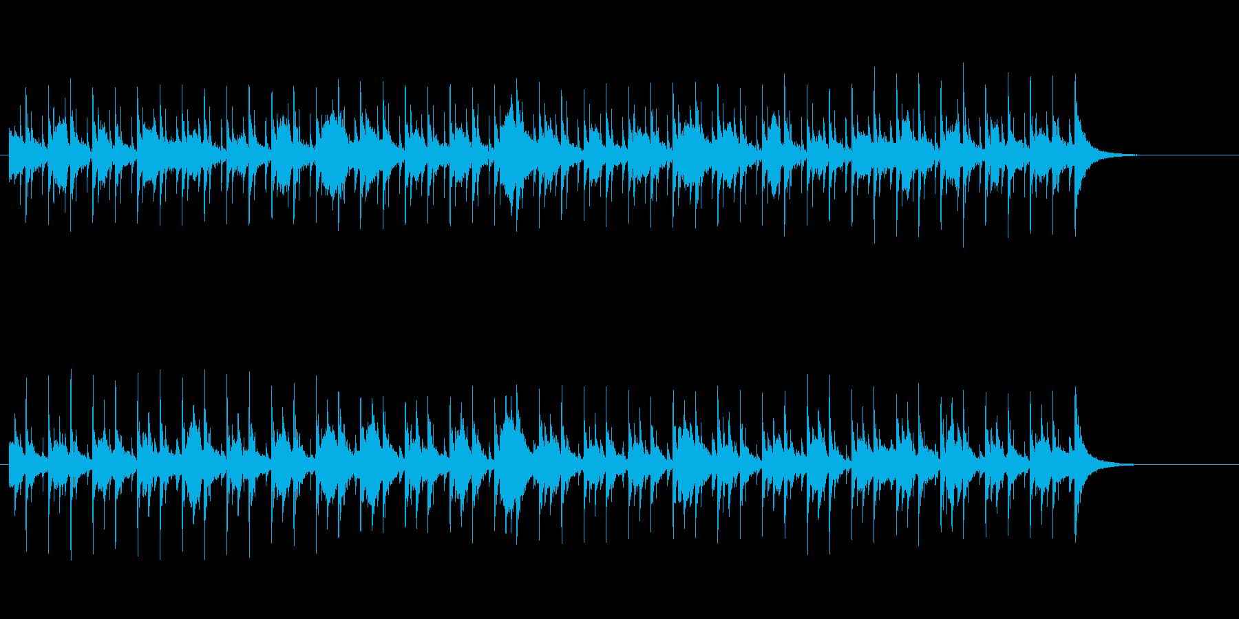 恐怖のドキュメント・タッチのBGMの再生済みの波形