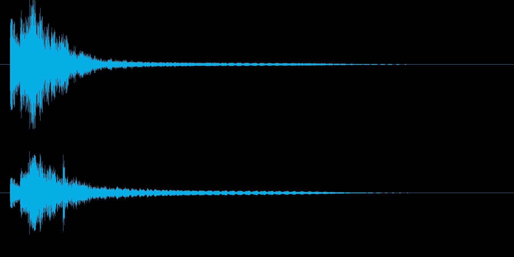 ドルルンチーン、タム回しから鐘の再生済みの波形