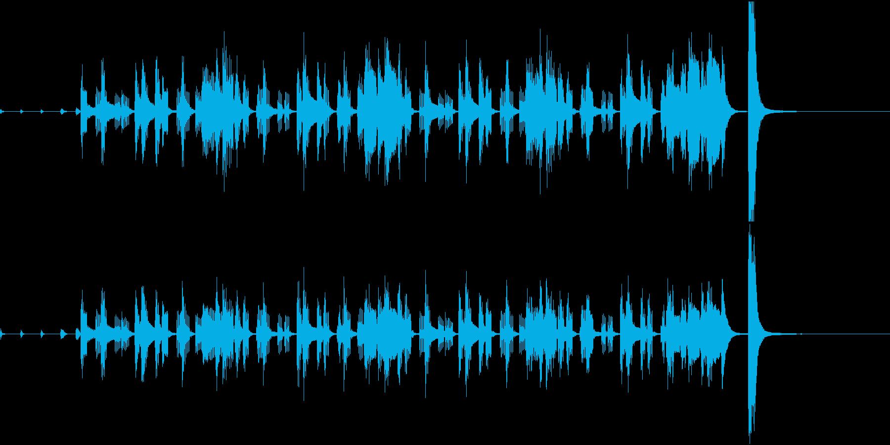 ゆるふわほのぼの日常系ジングルの再生済みの波形