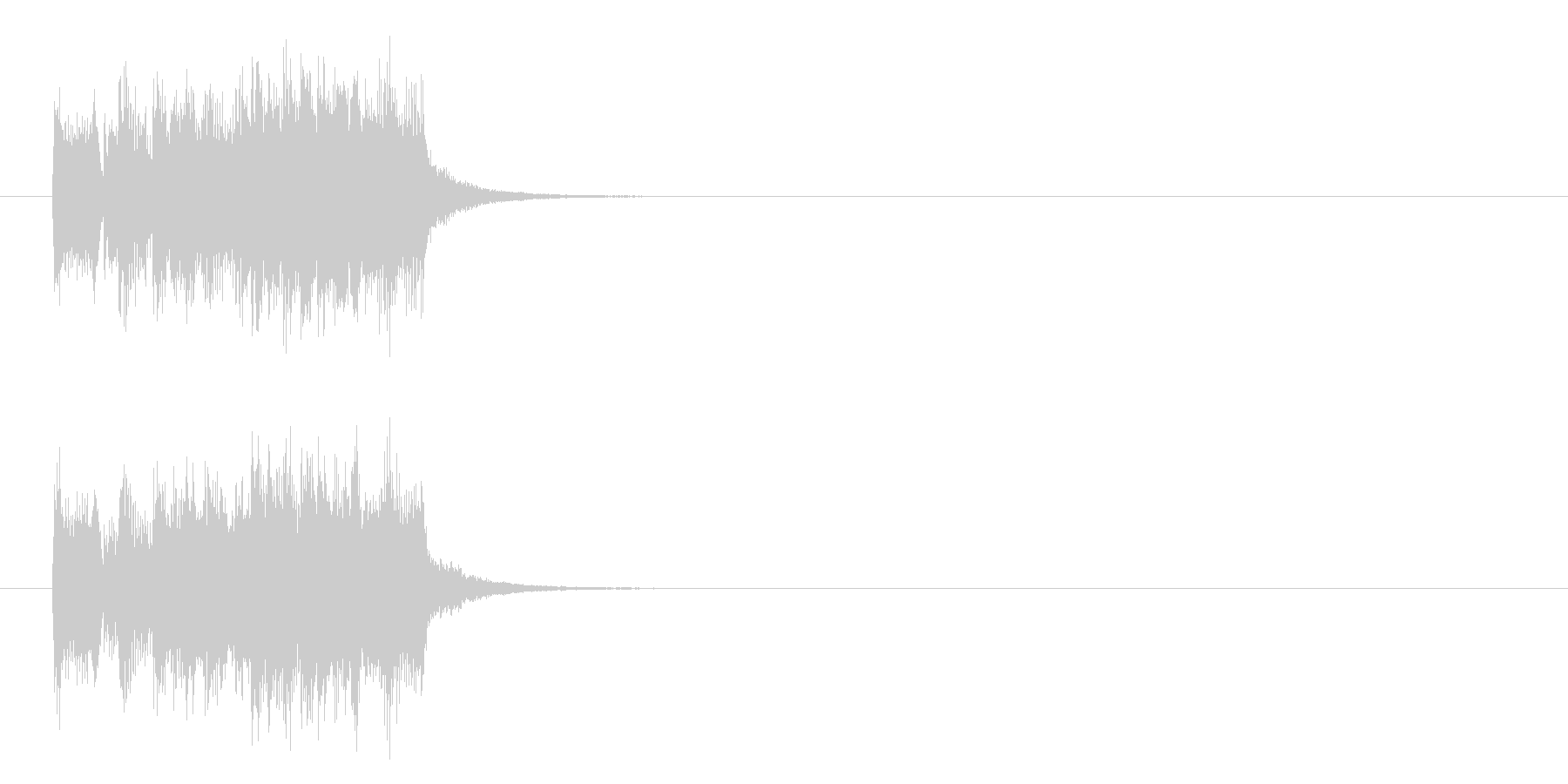 ジングル/ドキュメントの未再生の波形