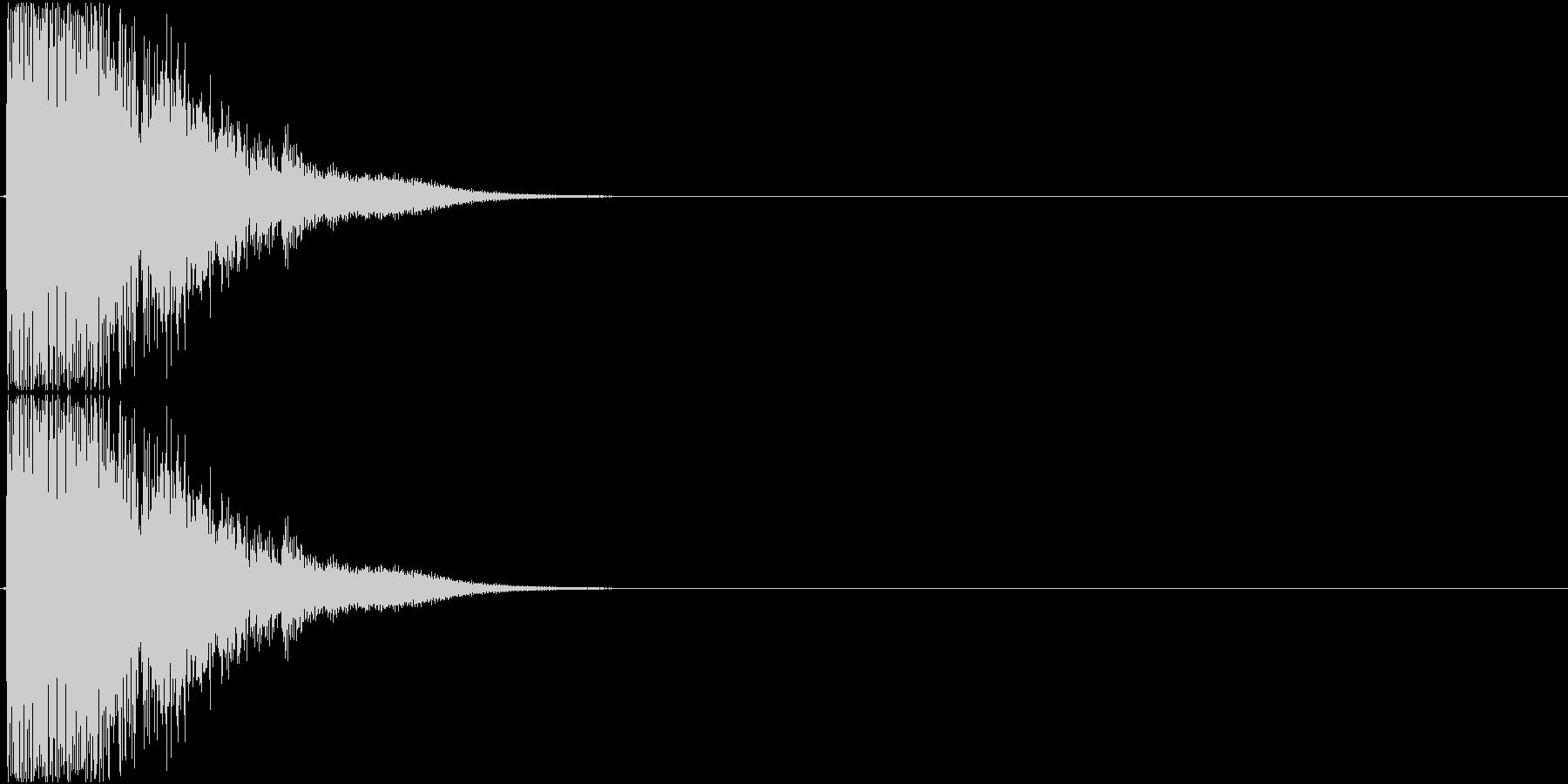 Katana 防具を引っ掻くような刀の音の未再生の波形
