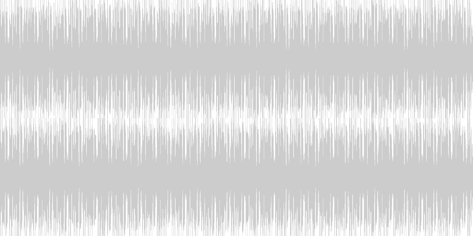 ポップで軽快なBGMの未再生の波形