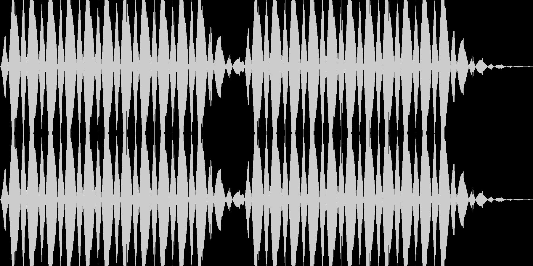 キャンセル音の未再生の波形