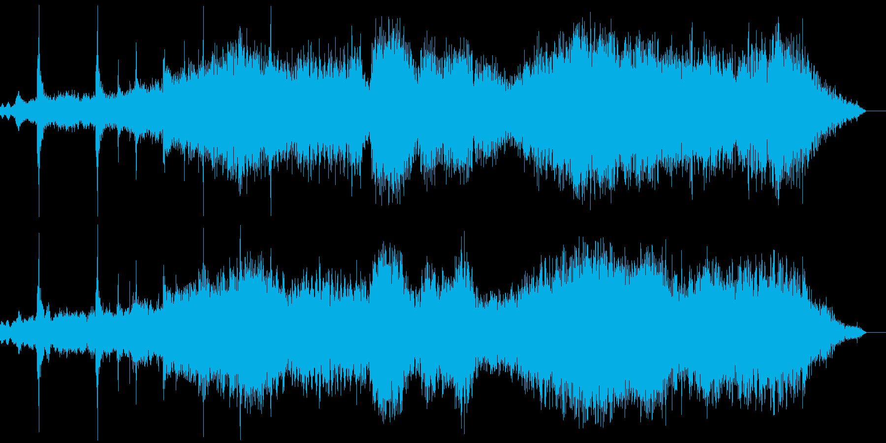 神秘的なアンビエントの再生済みの波形