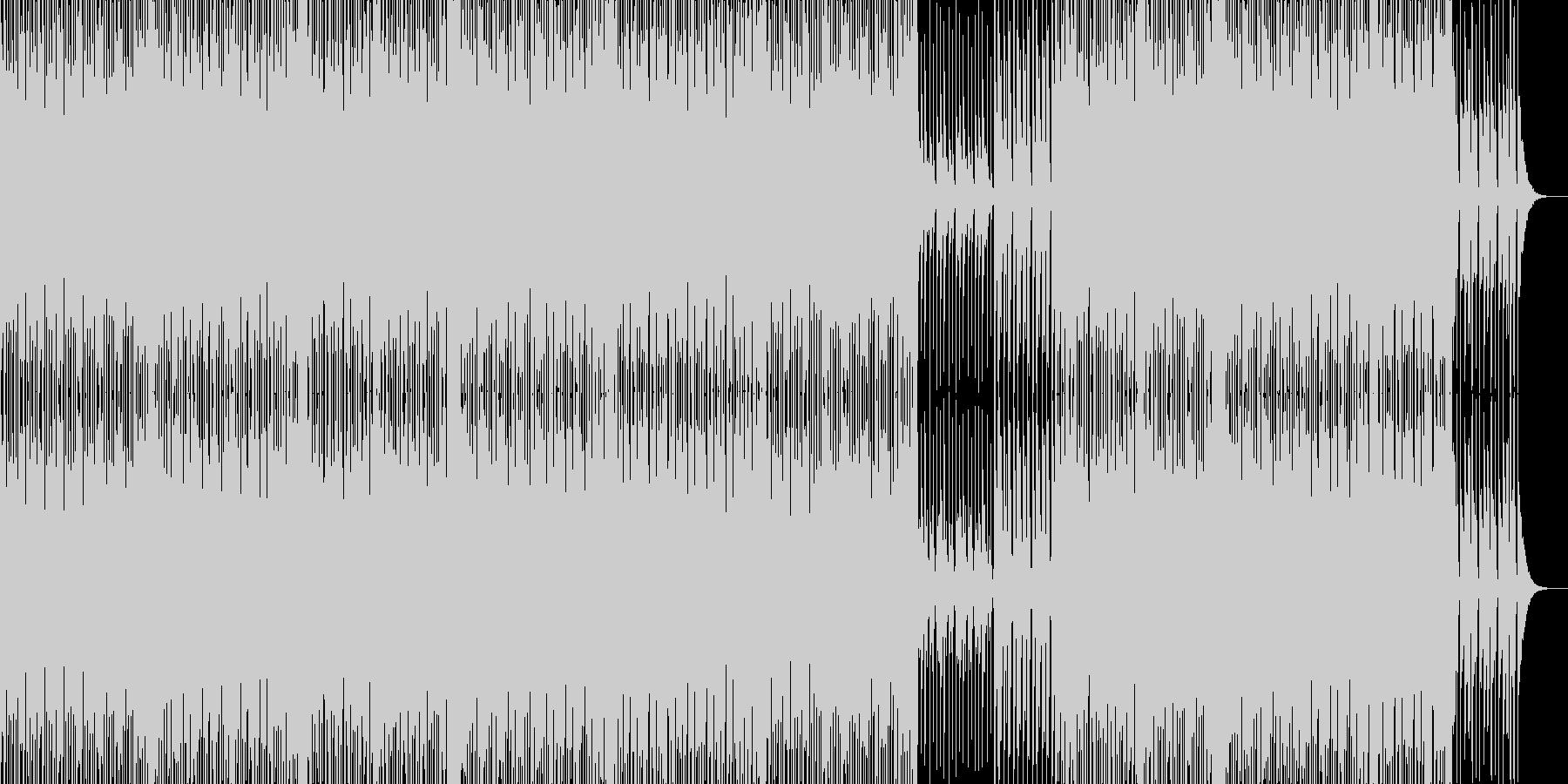 ダンステクノ風な楽曲です。の未再生の波形