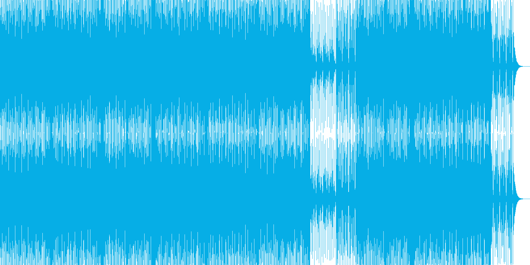ダンステクノ風な楽曲です。の再生済みの波形