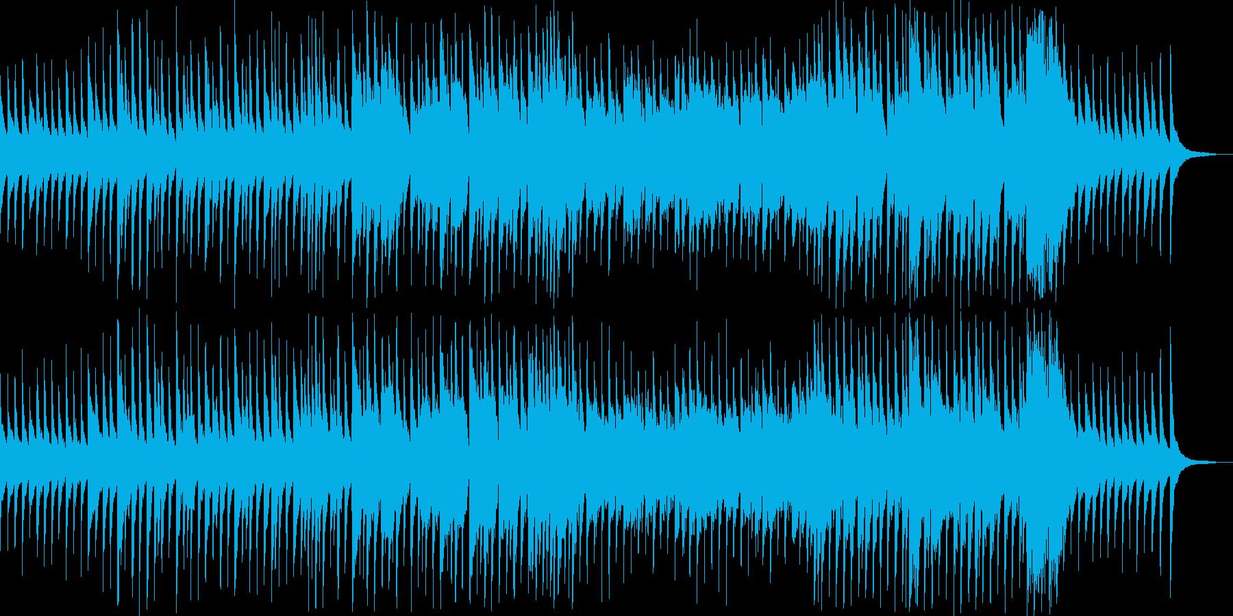 箏と笛の哀愁ある和風曲の再生済みの波形