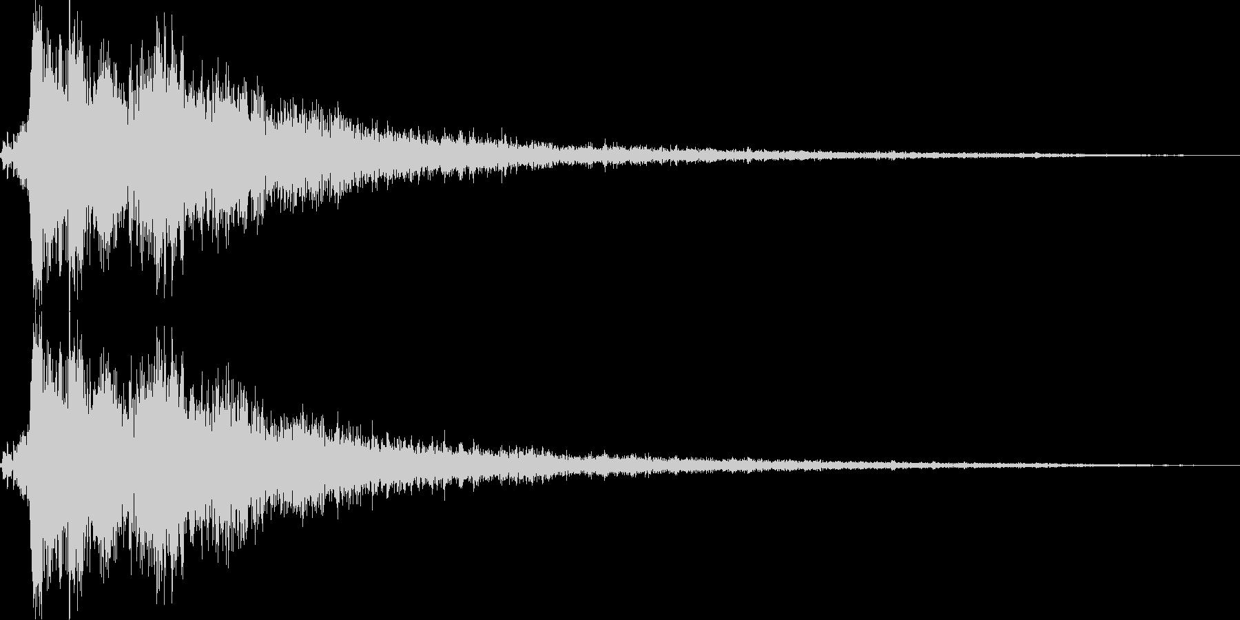 決定/ボタン押下音(ガラスを砕くような音の未再生の波形
