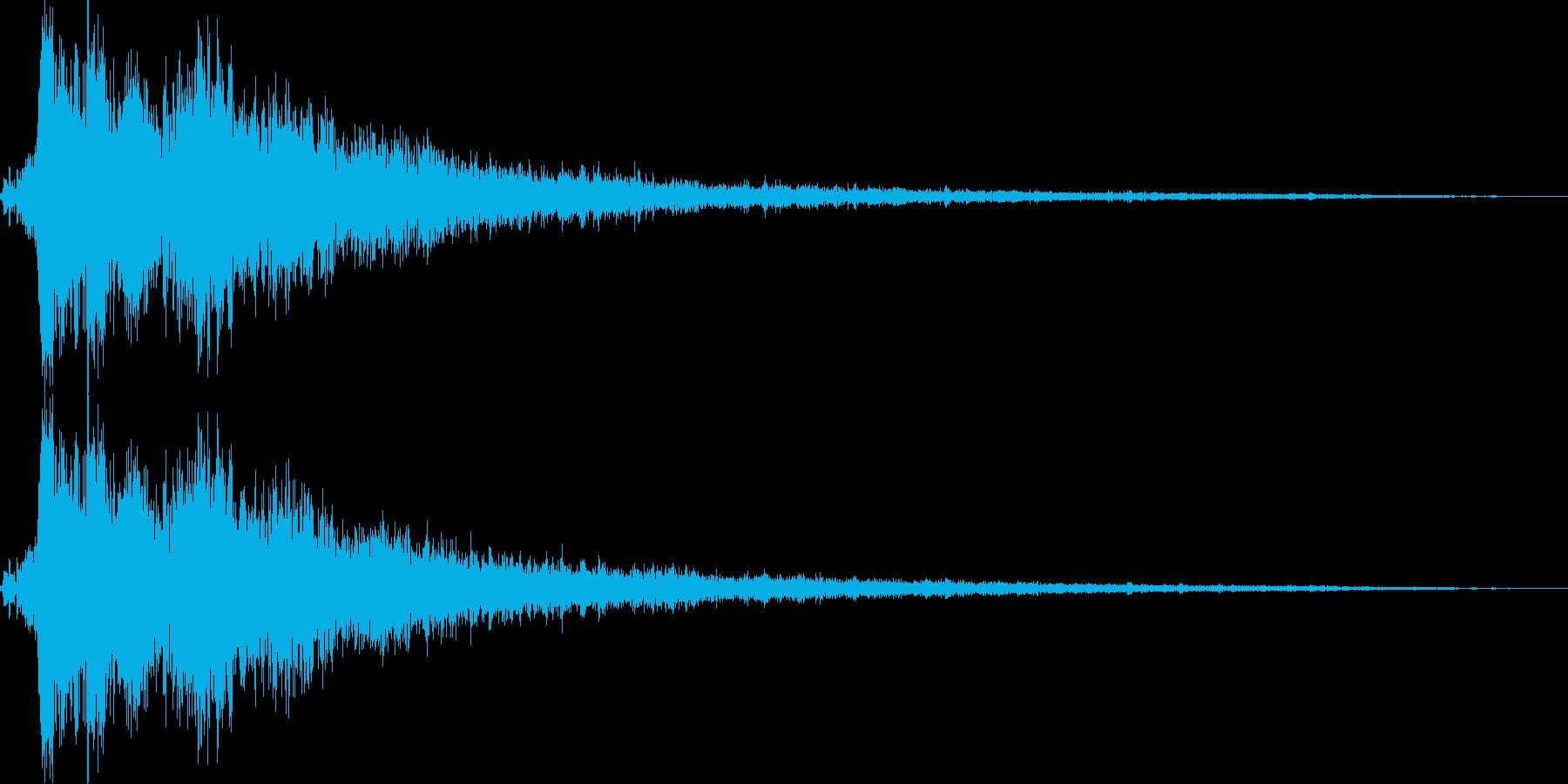 決定/ボタン押下音(ガラスを砕くような音の再生済みの波形