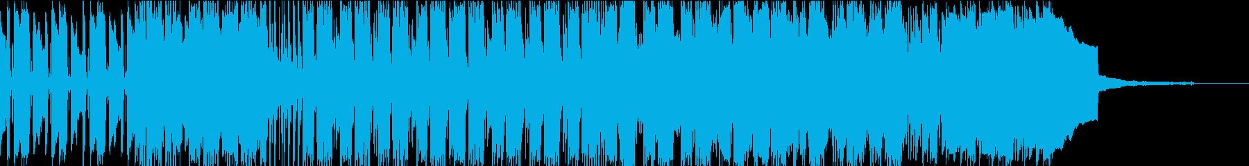 南国の風を感じるアコギのインストの再生済みの波形