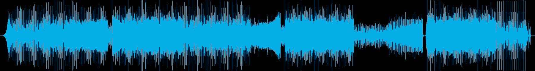 リズムの良いクラブ風サウンドの再生済みの波形