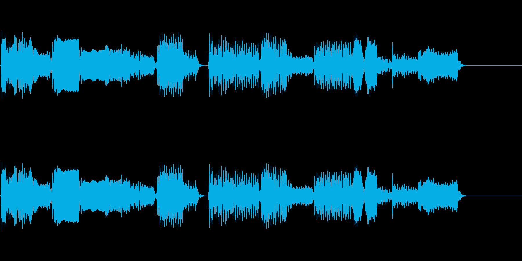 純和風の尺八の再生済みの波形