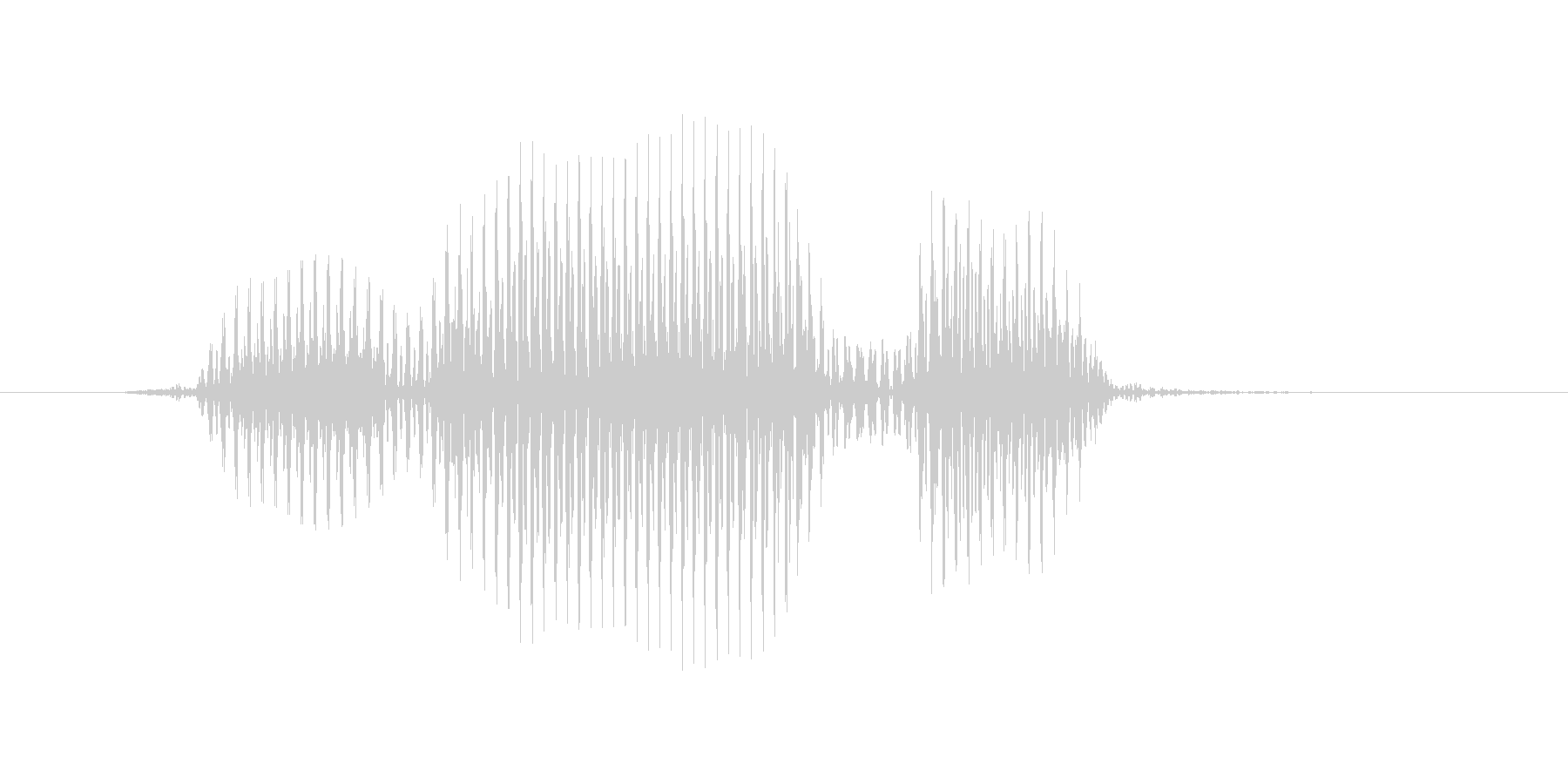 フォワードの未再生の波形