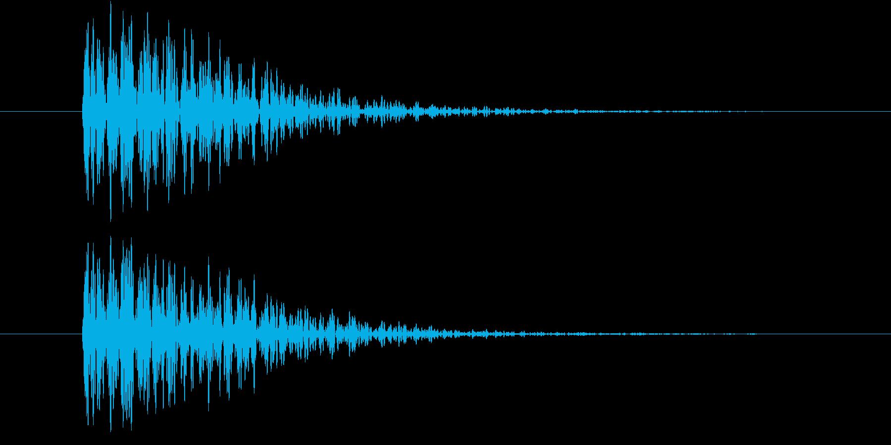 巨人が大きく一歩踏み出したような音の再生済みの波形