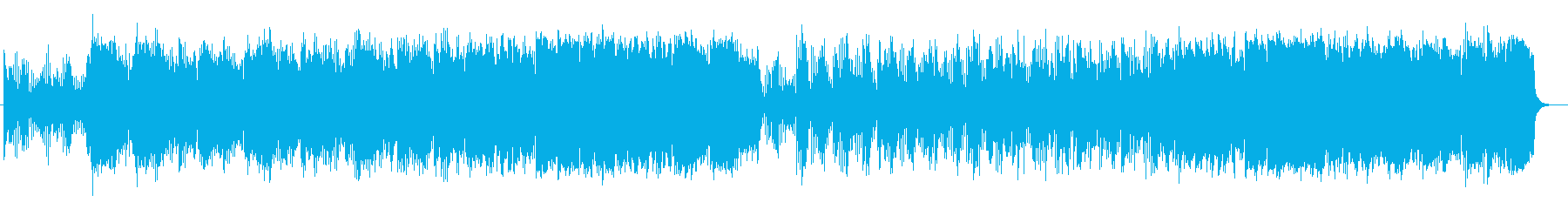 ゆったりアコースティックポップスの再生済みの波形