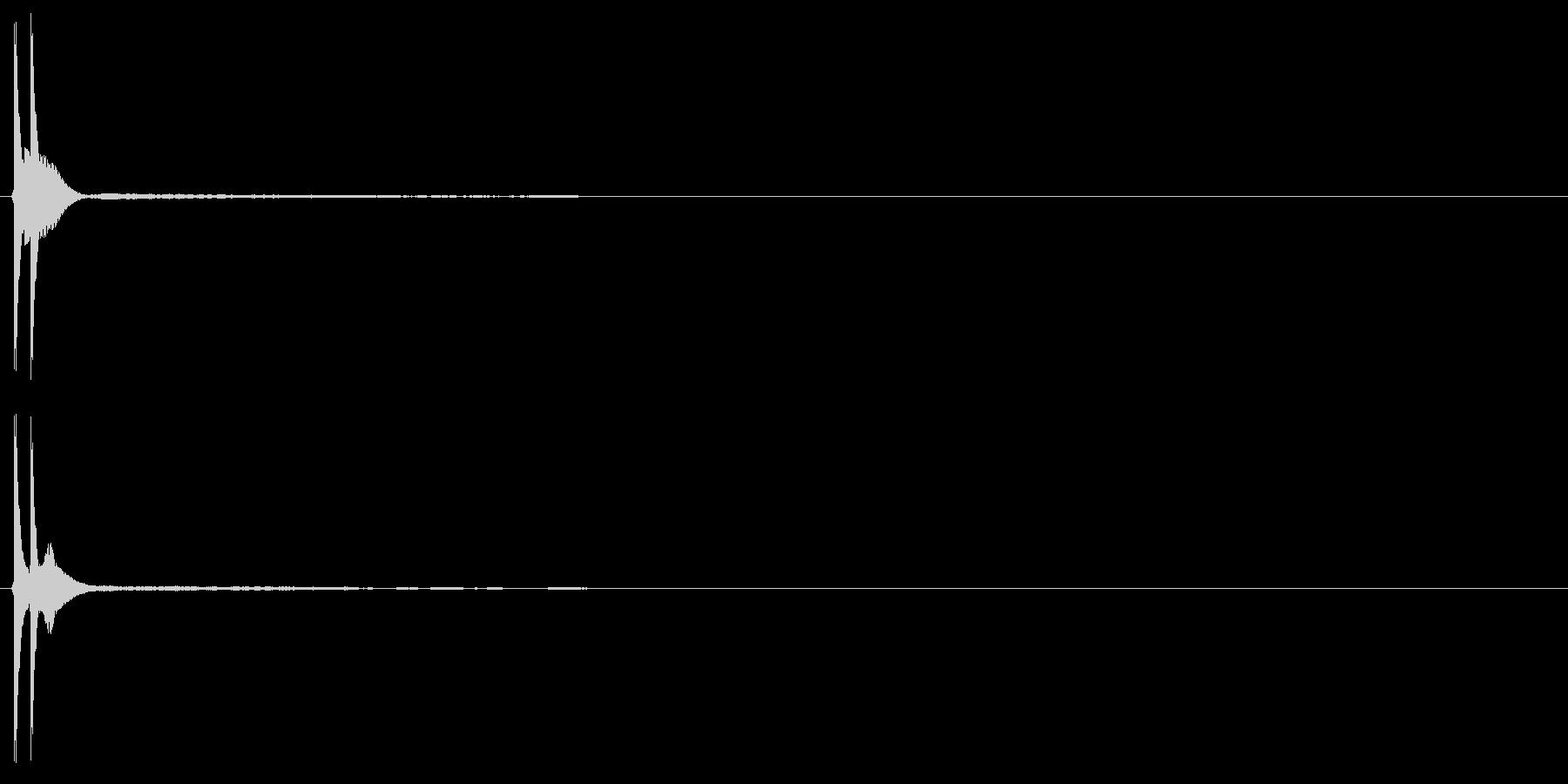 「ポンッ」の未再生の波形