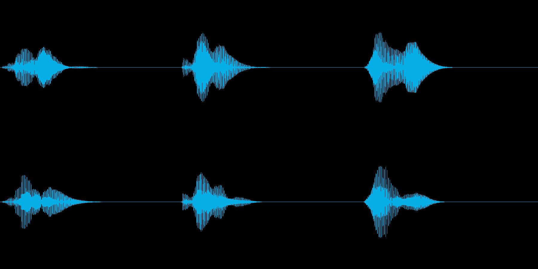 スリートゥーワン(ロボ声)の再生済みの波形